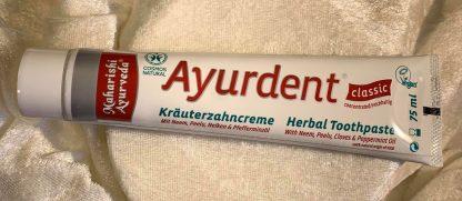 ayudent classic herbal tootpaste maharishi ayurveda Mies Balans